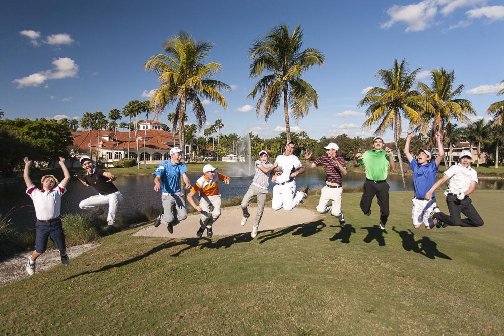 golf ball jump: